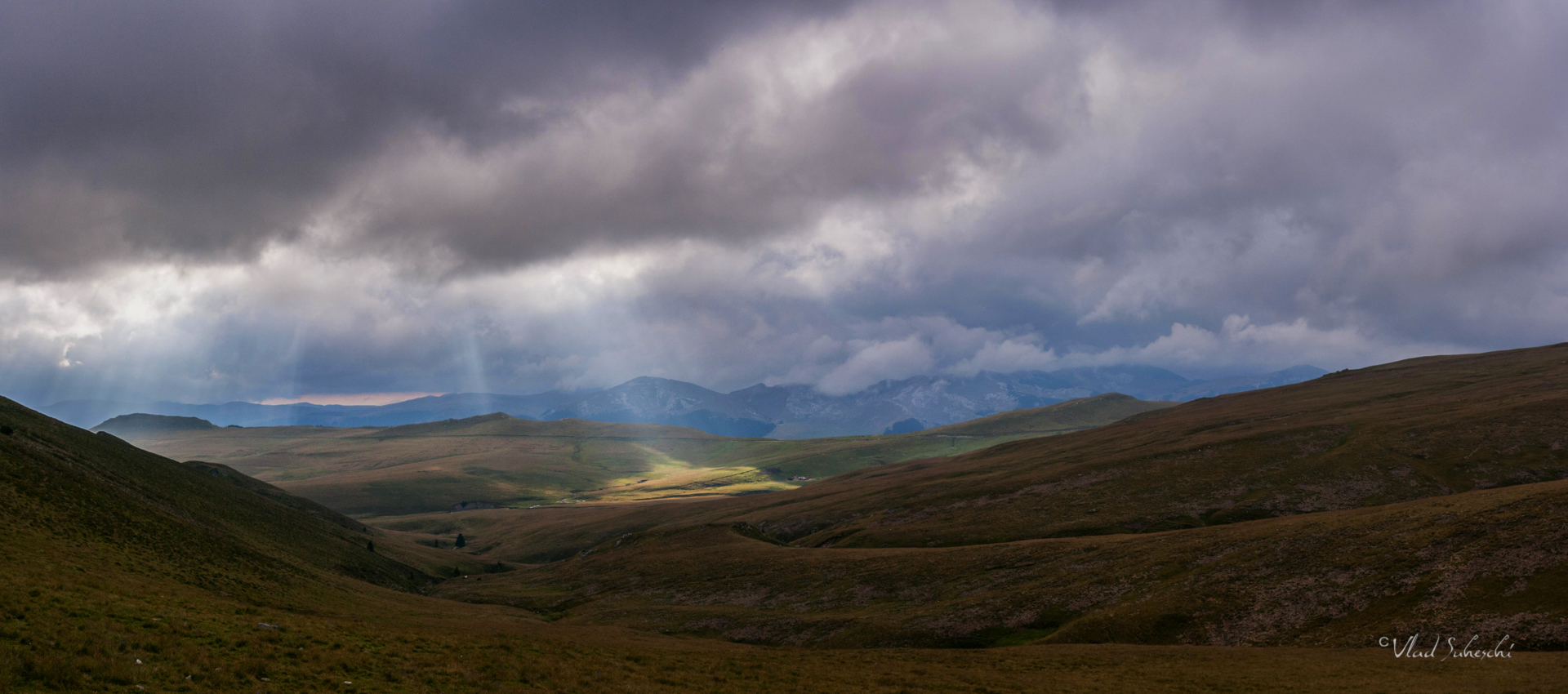 Storm Rays in Bucegi Mountains The Carpathians, Romania