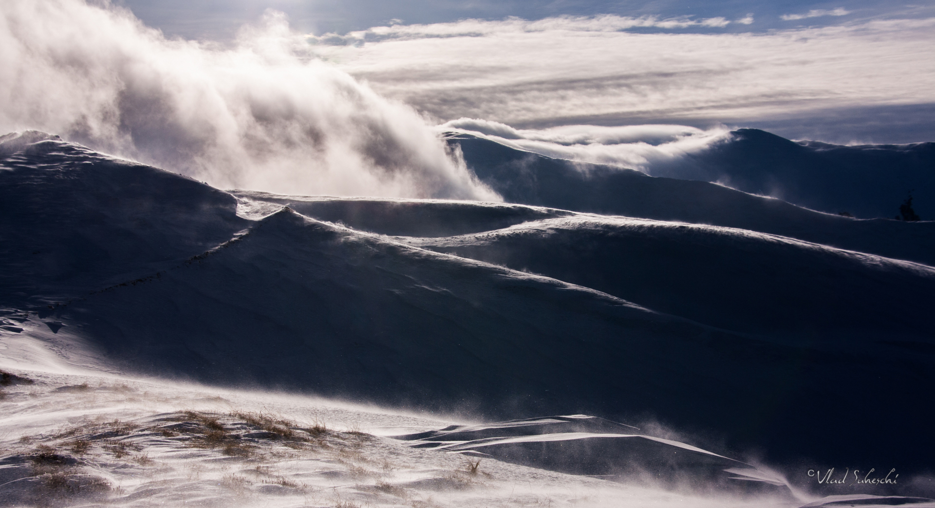 Winter Storm, Baiului Mountains The Carpathians Romania